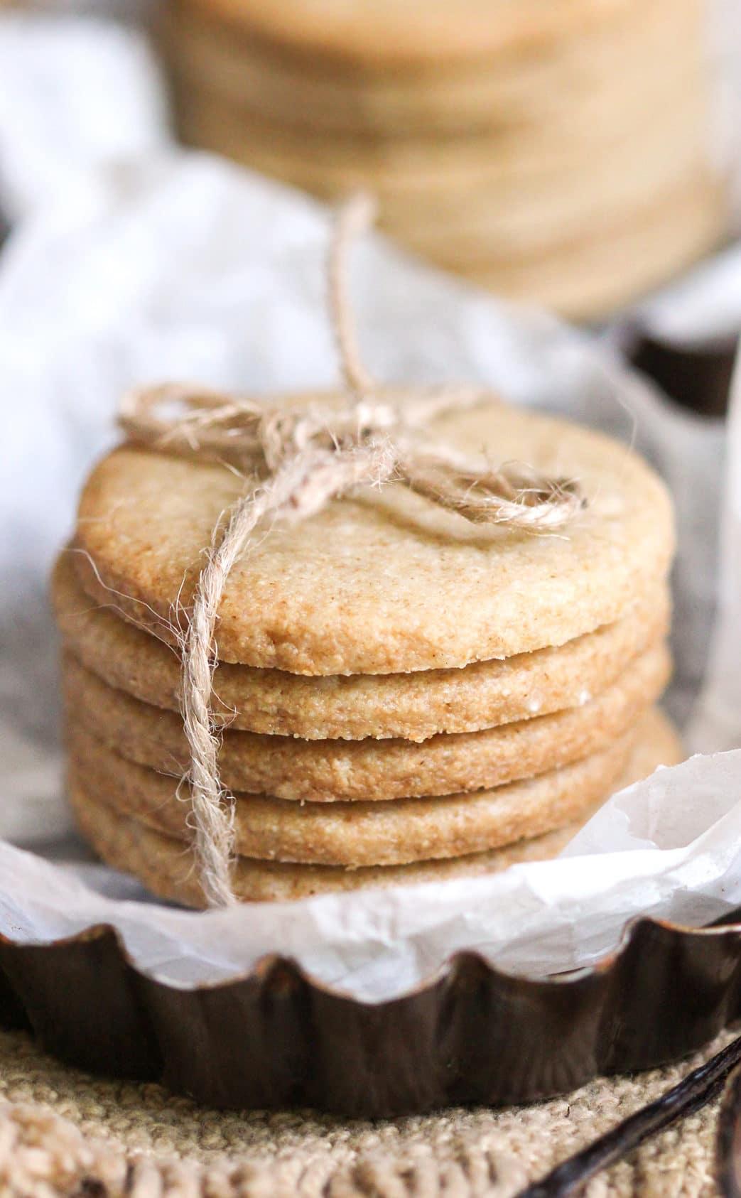 Healthy Shortbread Cookies Sugar Free Gluten Free Dairy Free Vegan