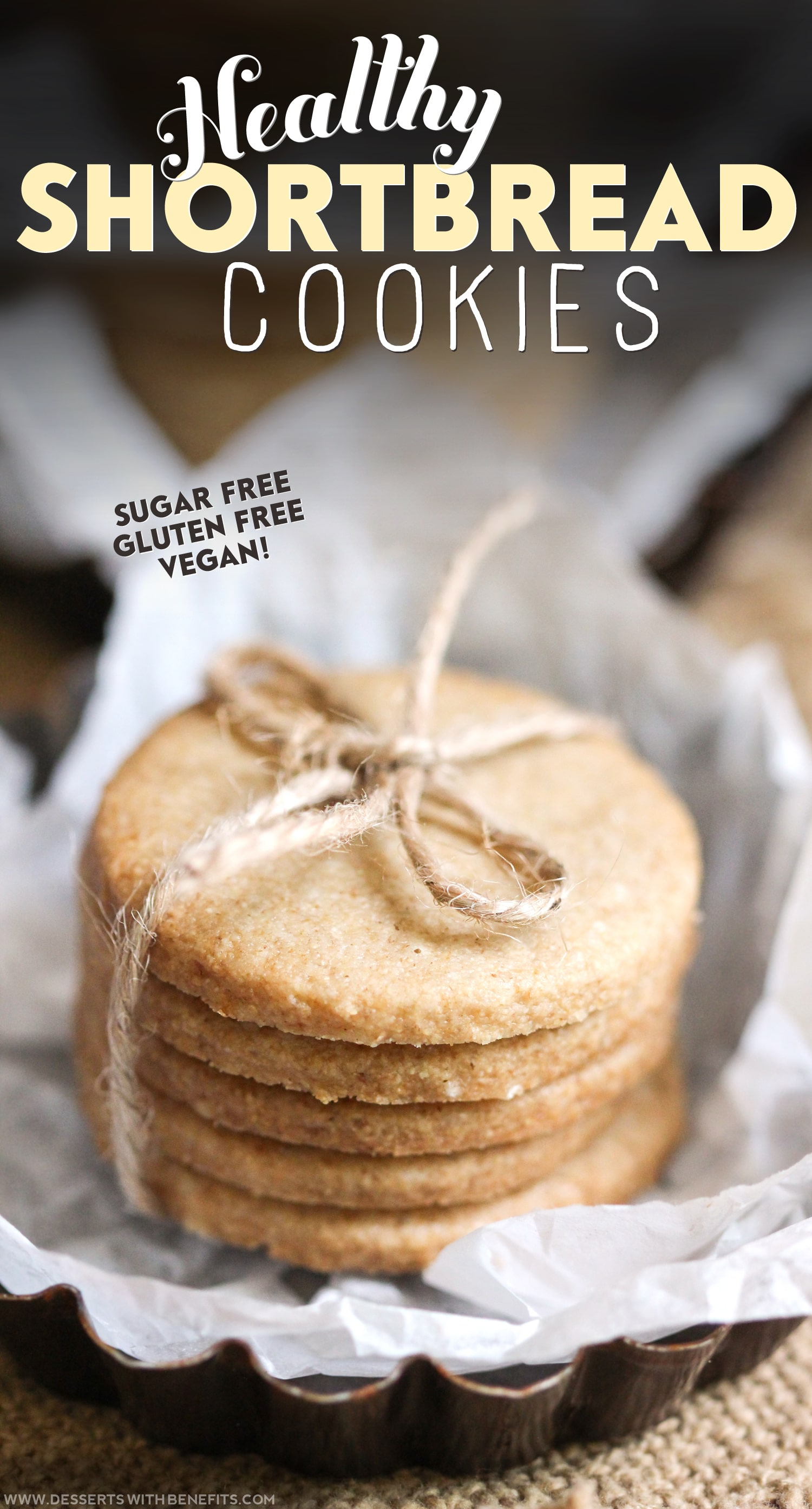 Healthy Shortbread Cookies recipe (refined sugar free, gluten free, dairy free, vegan) - Healthy Dessert Recipes at Desserts with Benefits
