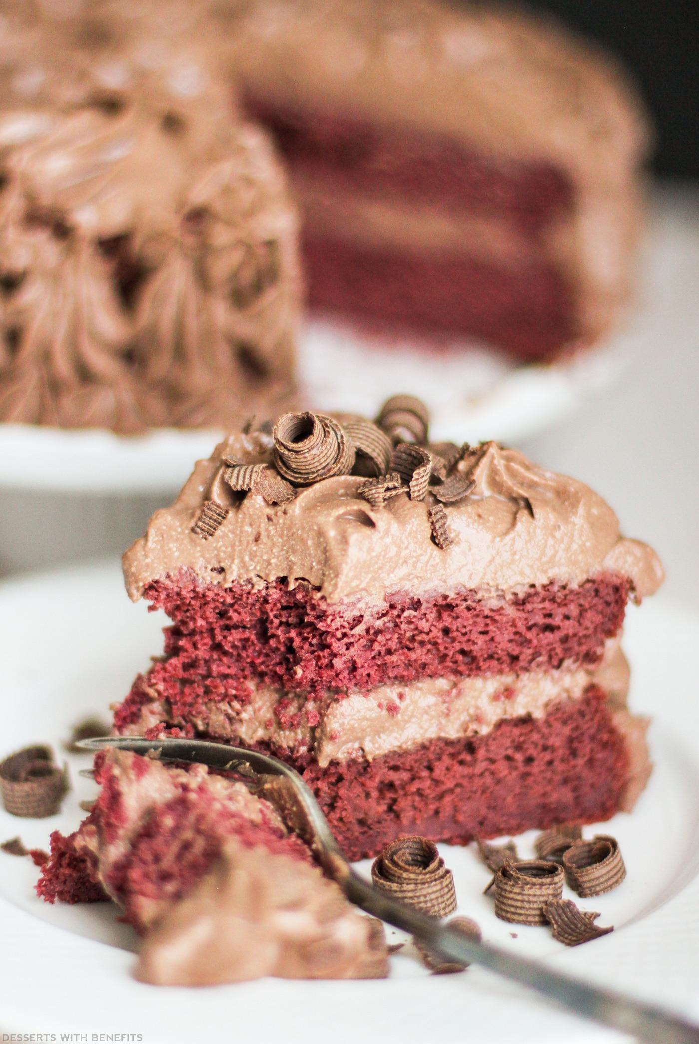 Healthy Vegan Red Velvet Cake Chocolate Mousse Frosting