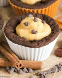 Healthy Chocolate Pumpkin Microwave Muffins (refined sugar free, high protein, high fiber, gluten free, dairy free, vegan) - Healthy Dessert Recipes at Desserts with Benefits