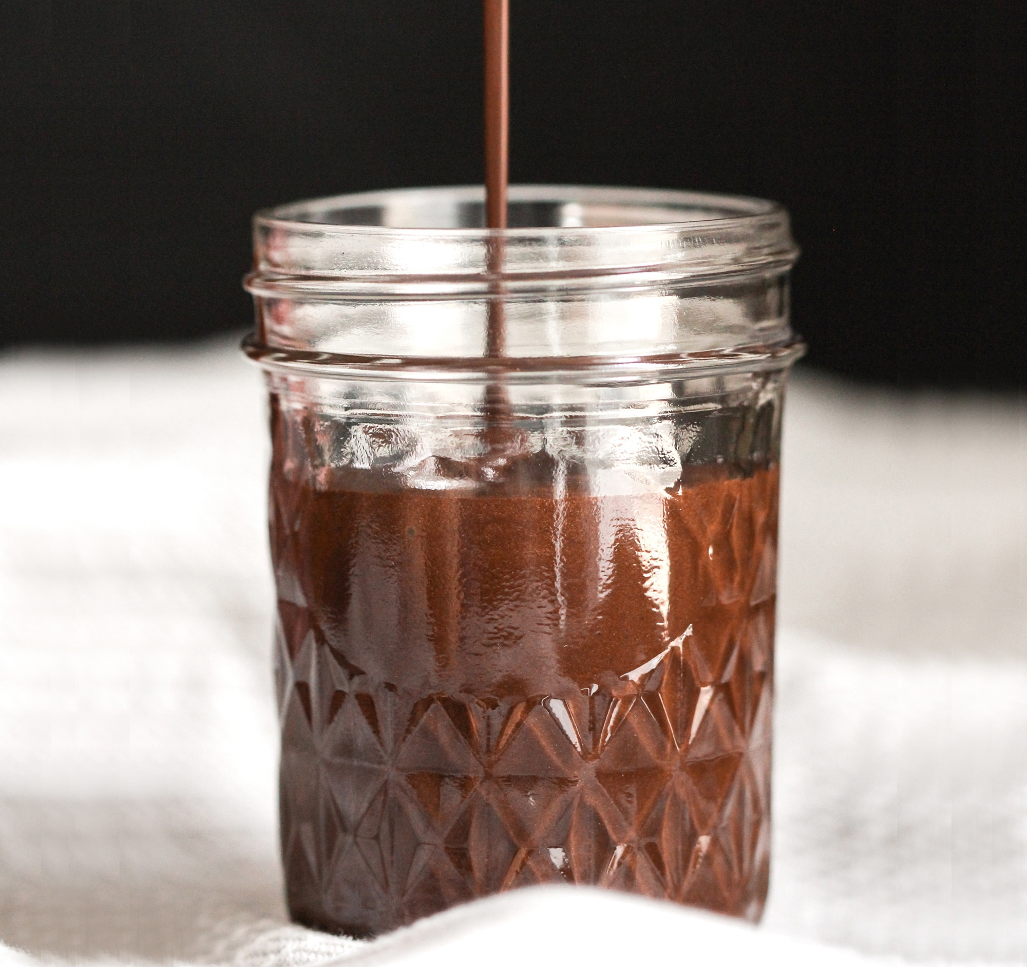 Healthy Homemade Chocolate Syrup recipe (sugar free, low fat, vegan)