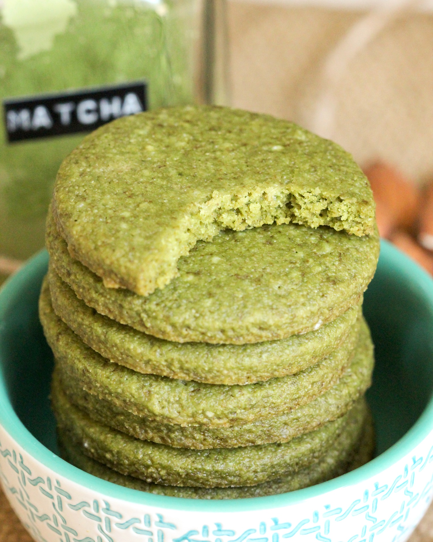 Healthy Matcha Green Tea Almond Shortbread Cookies recipe (refined ...