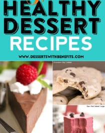 The best, most popular, and healthiest dessert recipes from the Desserts With Benefits Blog! These 52 healthy dessert recipes will keep you healthy and happy (not hangry) all year long - Healthy Dessert Recipes at Desserts with Benefits