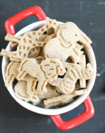 These simple and easy 8-ingredient Healthy Homemade Animal Crackers are the ultimate snack! They're simple, yet addicting. They're not overly sweet, yet still totally delicious. You'd never know these DIY animal crackers are whole grain, sugar free, gluten free, dairy free, and vegan! -- Healthy Dessert Recipes at Desserts with Benefits