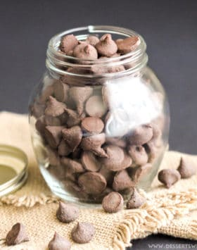 These Healthy Homemade Nutella Baking Chips are like chocolate chips but BETTER! They're like chocolate chips on crack. The chocolate and Nutella combine to make the most decadent and satisfying chocolate-hazelnut chips one can wish for! Healthy Dessert Recipes at Desserts with Benefits
