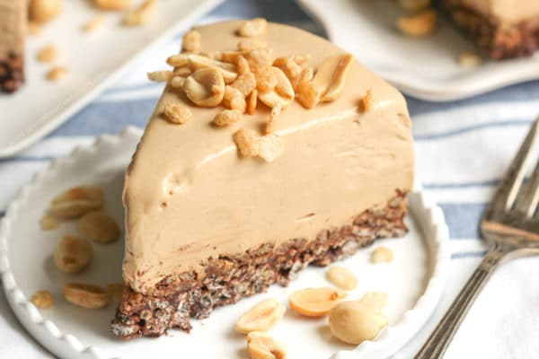 Healthy Peanut Butter Chocolate Crunch Pie | Desserts With Benefits