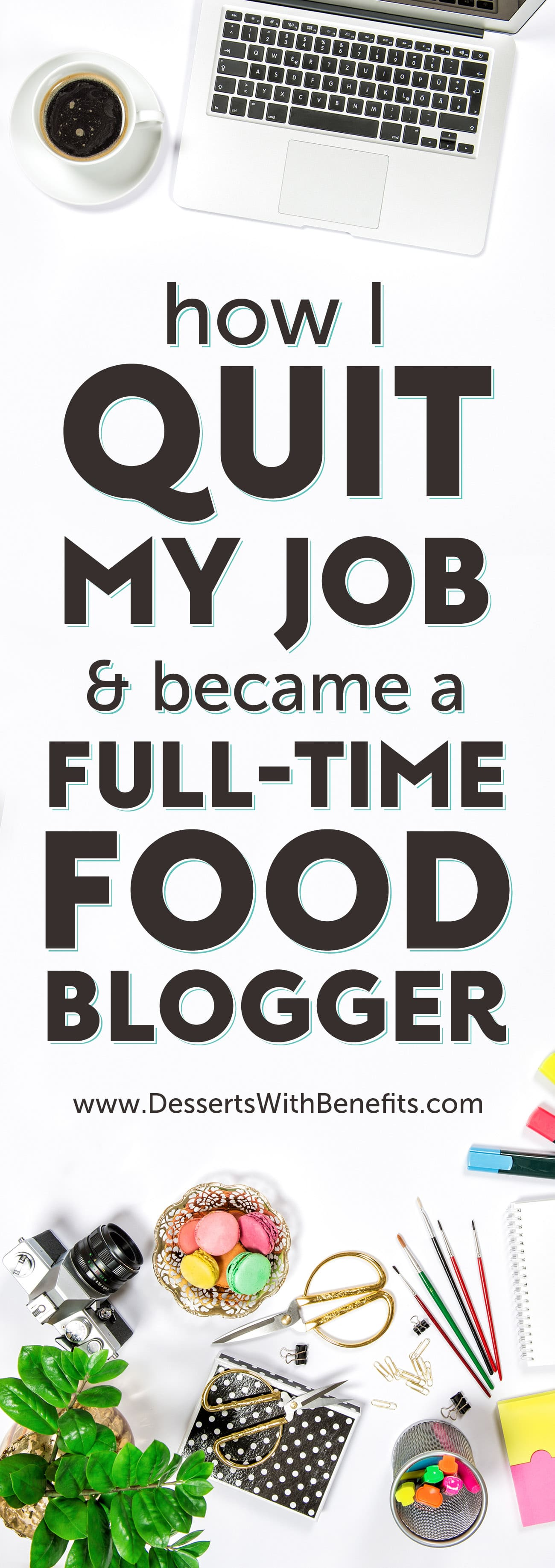 Full Time Blogging is a career? Oh yes. Here is the ULTIMATE guide to food blogging -- tools, resources, and helpful hints and tips that allowed me to quit my day job and turn my blog from a side hustle to my main hustle! Healthy Dessert Recipes at the Desserts With Benefits Blog (www.DessertsWithBenefits.com)