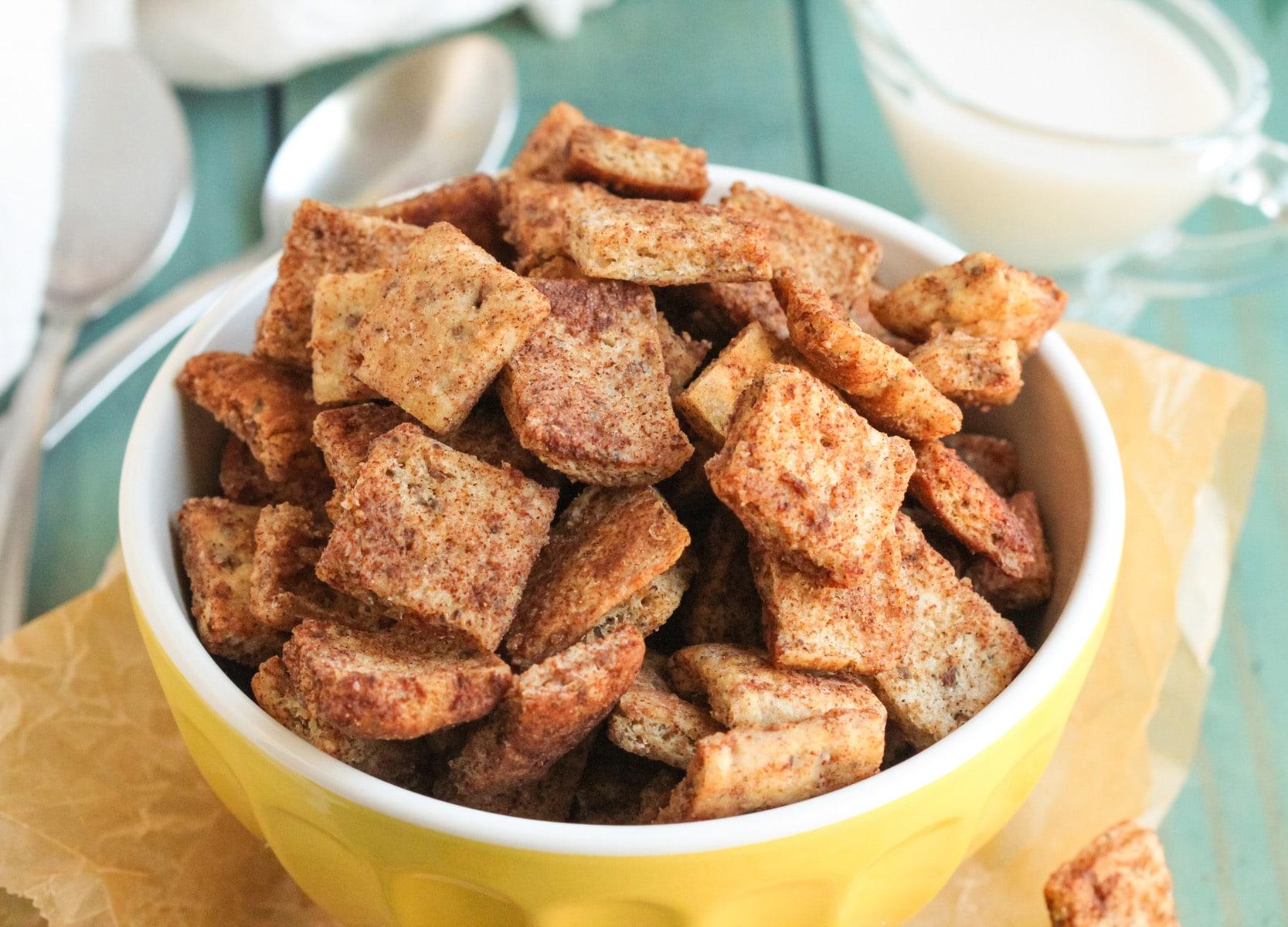 Low Sugar Vegan Cake Recipes: Healthy Homemade Cinnamon Toast Crunch Cereal Recipe (Vegan