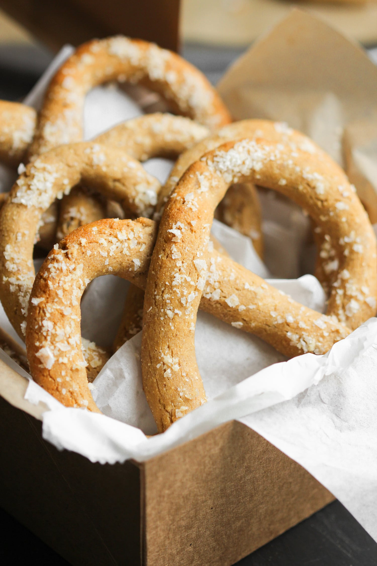 These Healthy Low Carb and Gluten Free Soft Pretzels are so delicious, you'll never believe they're sugar free, high protein, and high in fiber! These Gluten Free Pretzels taste like pure sin, but they're sinlessly delicious! Healthy Dessert Recipes with low calorie, low fat, dairy free, and vegan options at the Desserts With Benefits Blog (www.DessertsWithBenefits.com)