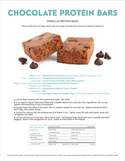 Healthy Chocolate Fudge DIY Protein Bars Recipe from the DIY Protein Bars Cookbook!