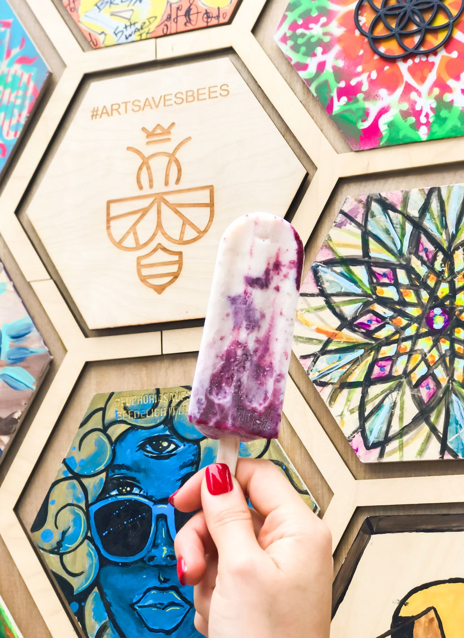 Bee Delightful CBD Raspberry Popsicle | #artsavesbees | Save The Bees with Bee Delightful