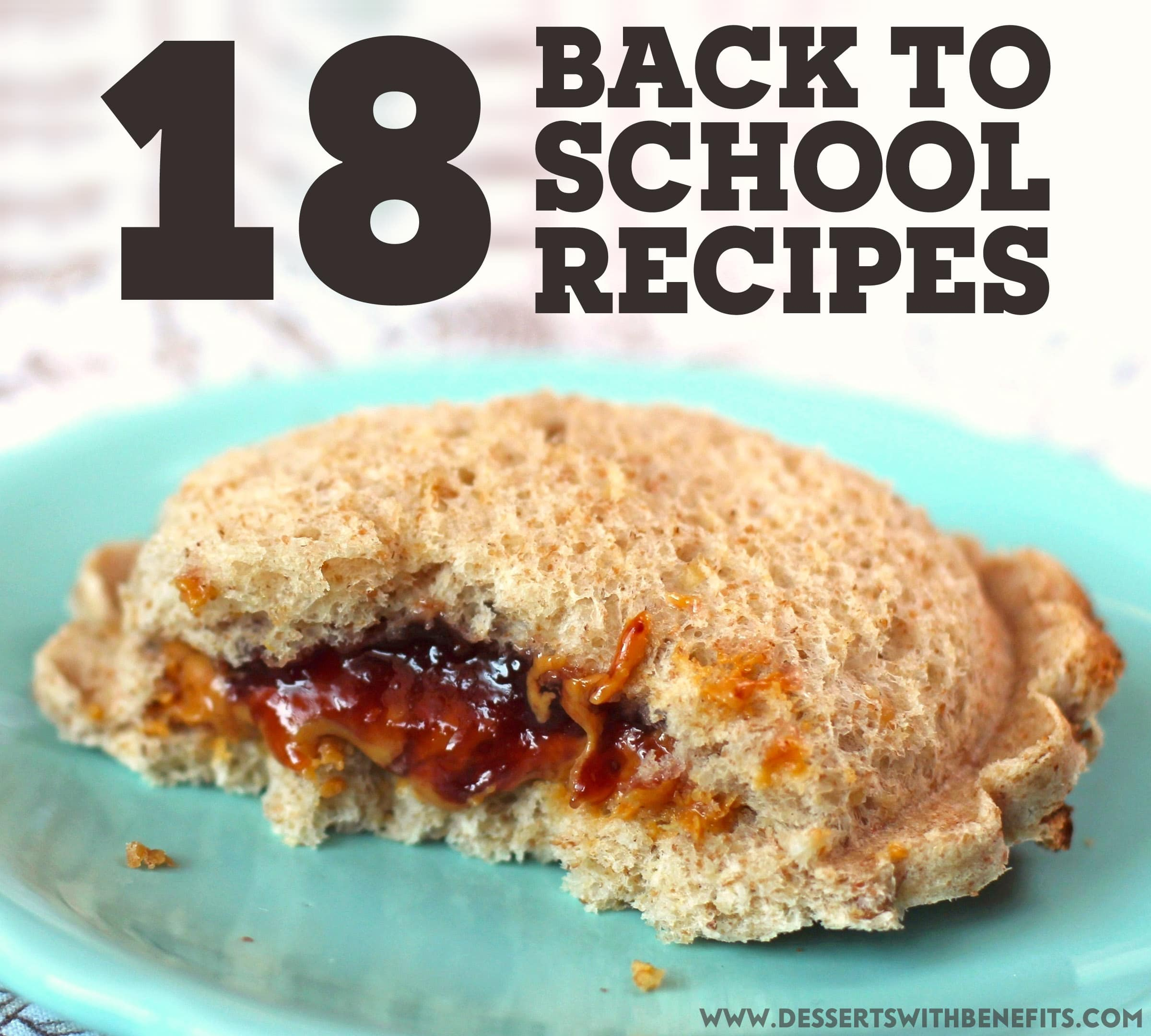 18 easy, healthy Back To School recipes that anyone with a sweet tooth will enjoy! From no-bake granola bars to protein bars, DIY cereal to DIY gummy bears, cookies to brownies, and MORE! Healthy Dessert Recipes with sugar free, low calorie, low fat, low carb, high protein, gluten free, dairy free, vegan, and raw options at the Desserts With Benefits Blog (www.DessertsWithBenefits.com)