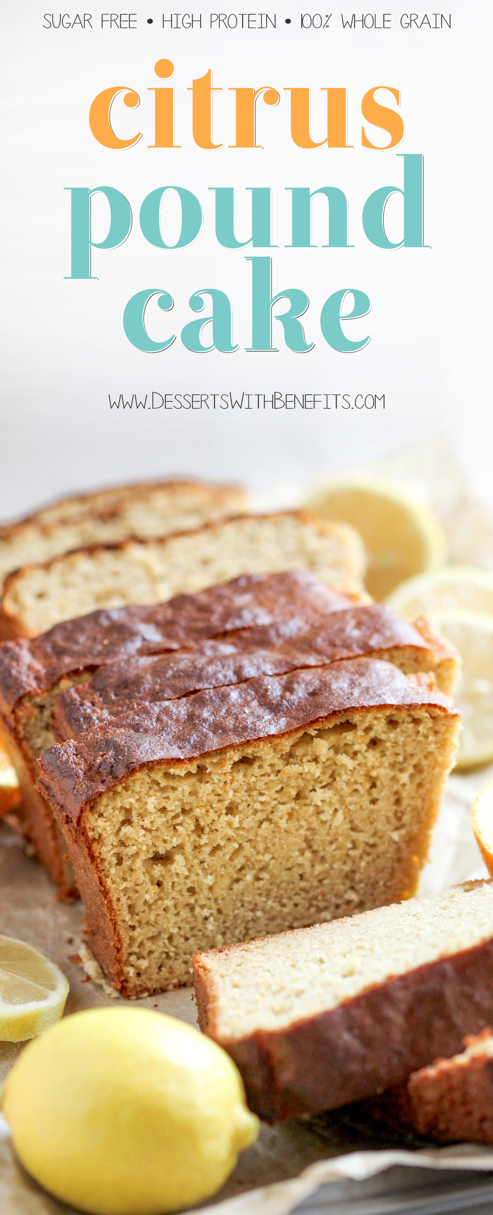 Healthy Citrus Pound Cake Recipe Made Without Butter And