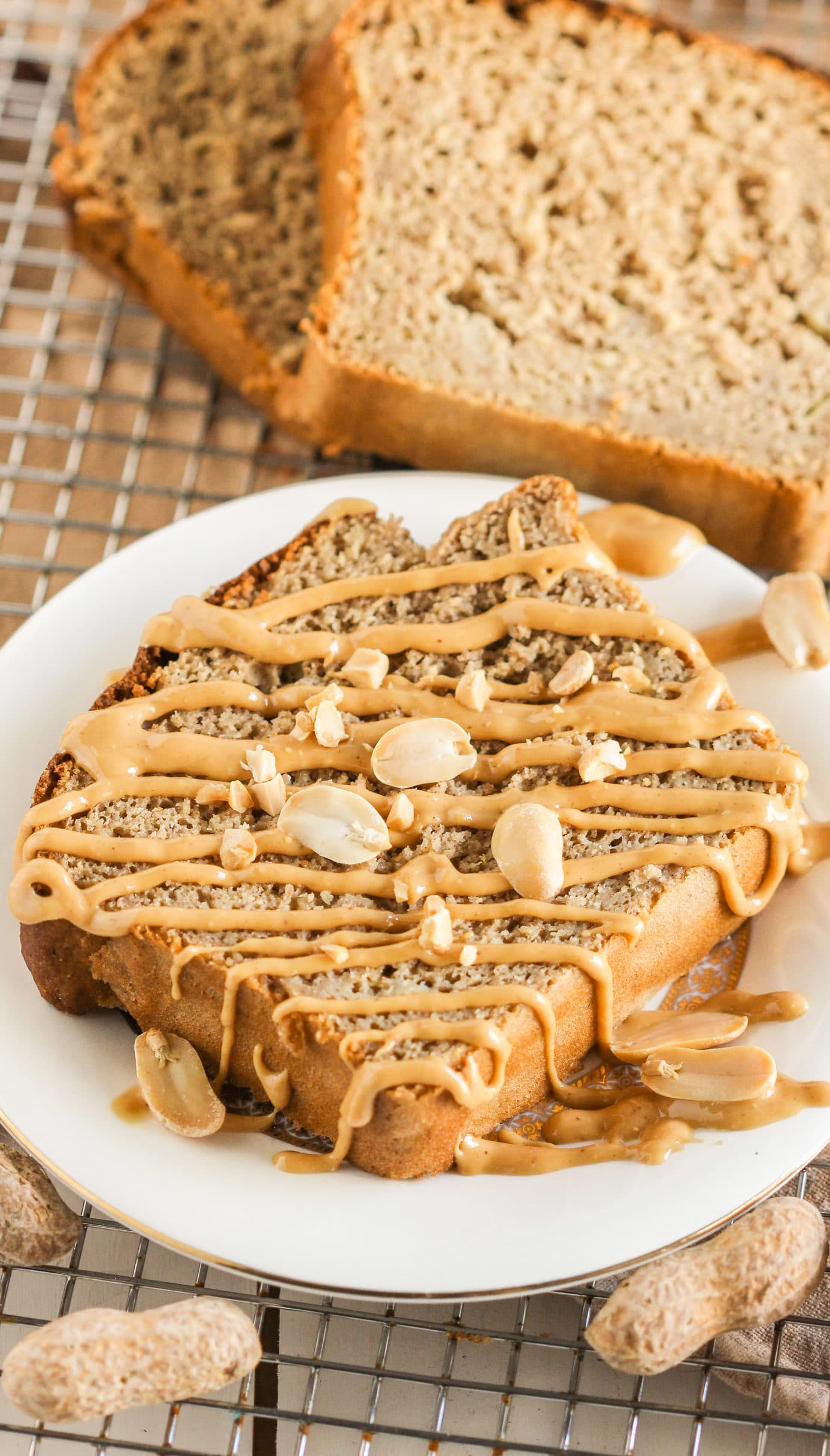 Healthy Peanut Butter Banana Bread Recipe | Desserts with ...
