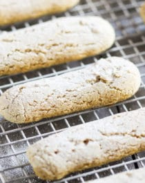 Did you know you can make Ladyfingers AT HOME?! Oh yes! These Healthy Homemade Ladyfingers are soft, sweet, and full of flavor. Perfect in Tiramisu or completely on their own. You'd never know they're sugar free, low fat, low calorie, gluten free, AND vegan! Healthy Dessert Recipes with low carb, high protein, dairy free, and raw options at the Desserts With Benefits Blog (www.DessertsWithBenefits.com)