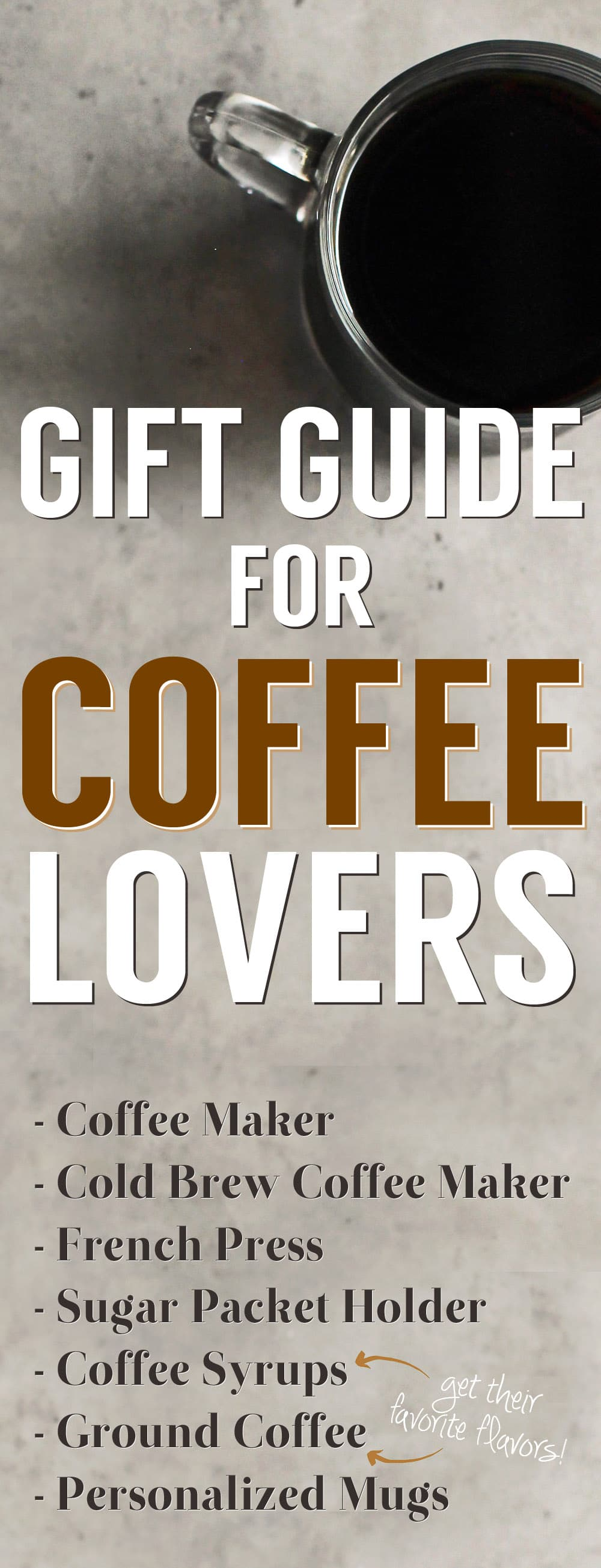 Gift Guide for Coffee Lovers from the Desserts With Benefits Blog (www.DessertsWithBenefits.com)