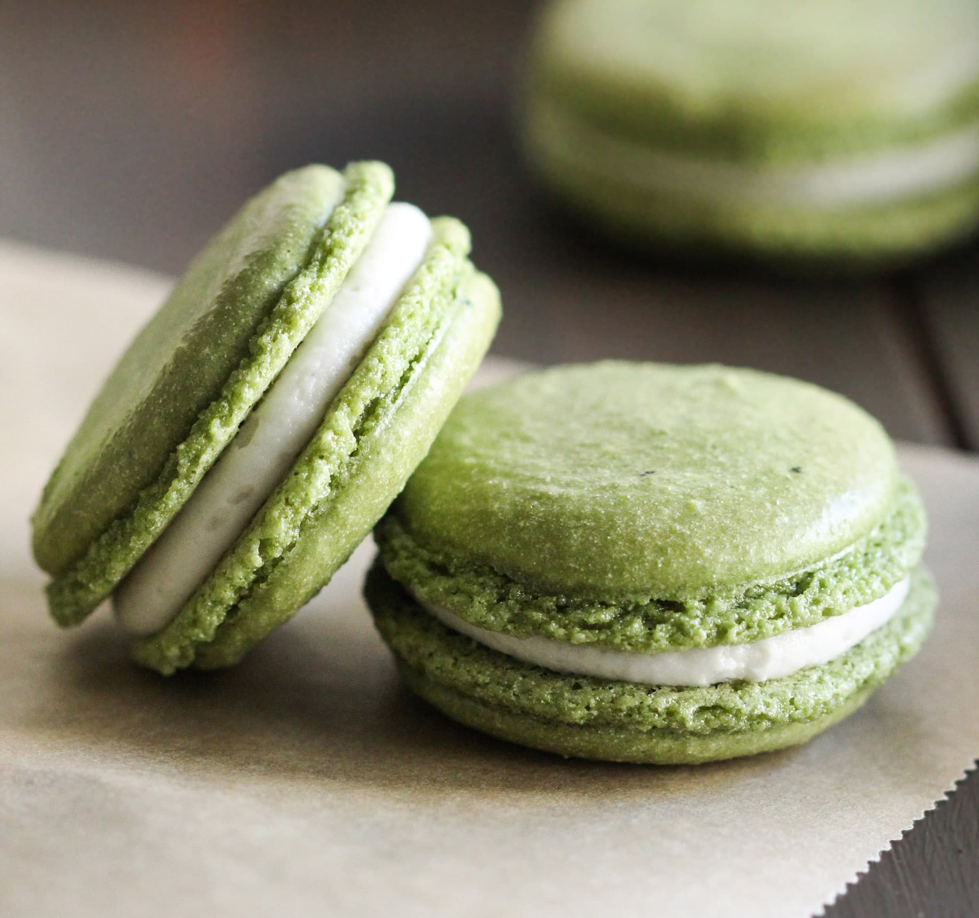 Healthy-Matcha-Green-Tea-French-Macarons