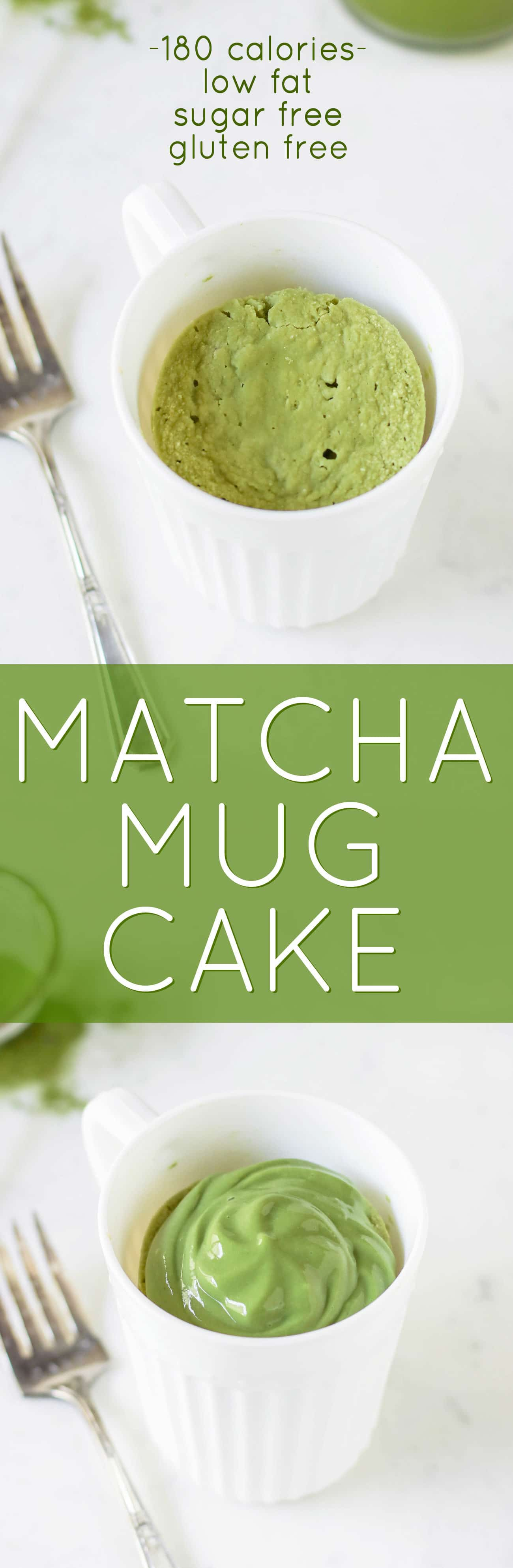 You can make this Healthy Single-Serving Matcha Microwave Cake in TWO minutes flat! This soft, springy, delicious cake makes the perfect balanced breakfast, snack, AND dessert. Plus, a Matcha Protein Frosting to top it off. This entire recipe has just 180 calories, and is sugar free, low carb, high protein, high fiber, and gluten free too! Healthy dessert recipes at the Desserts With Benefits Blog (www.DessertsWithBenefits.com)