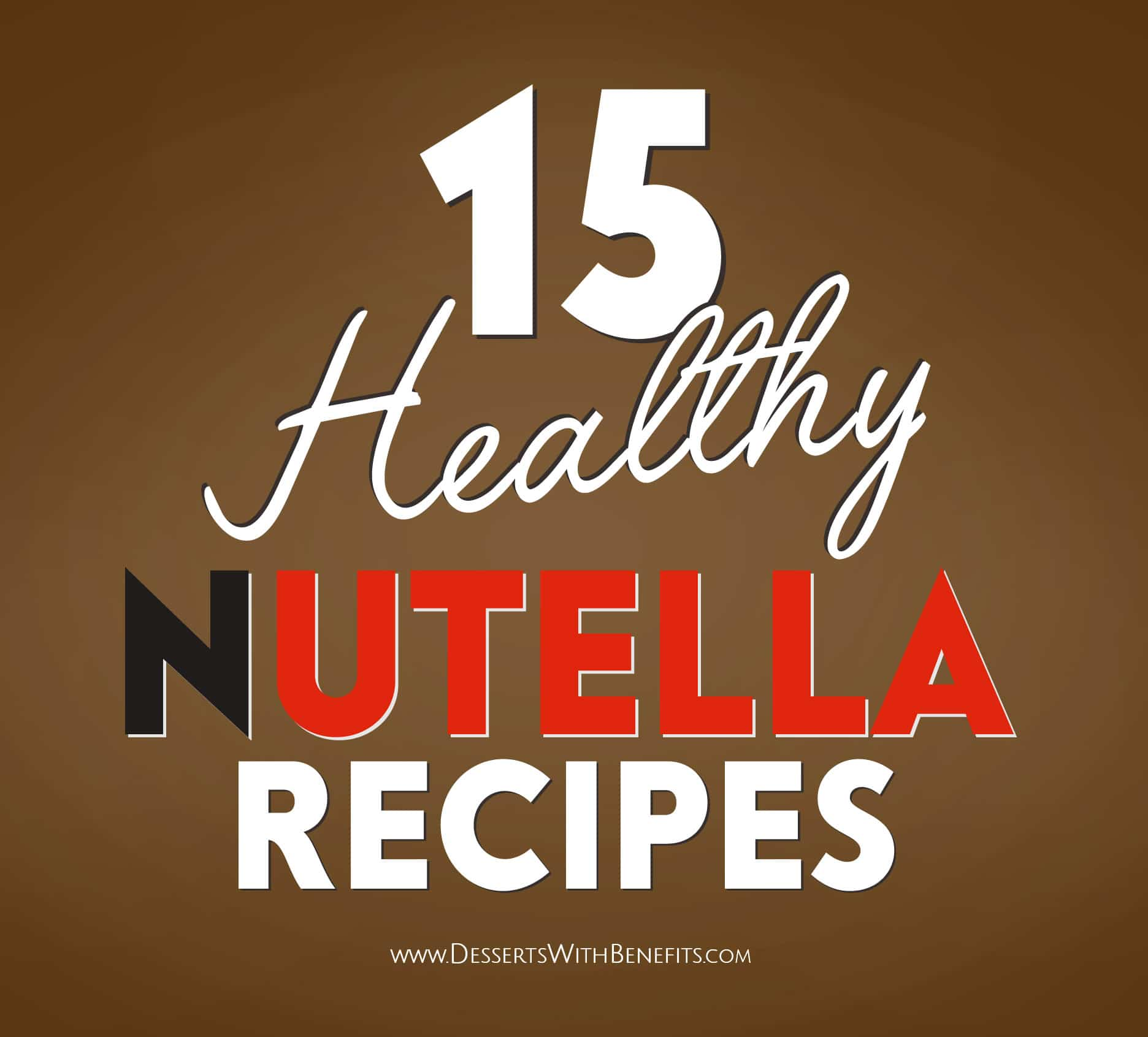 15 Healthy Nutella Recipes! Indulge in all that sweet chocolate-hazelnut flavor but without all the excess calories, refined sugar, palm oil, and artificial ingredients. From Nutella Fudge to Nutella Frozen Yogurt to Nutella Cookie Dough to Nutella Protein Bars, and more!