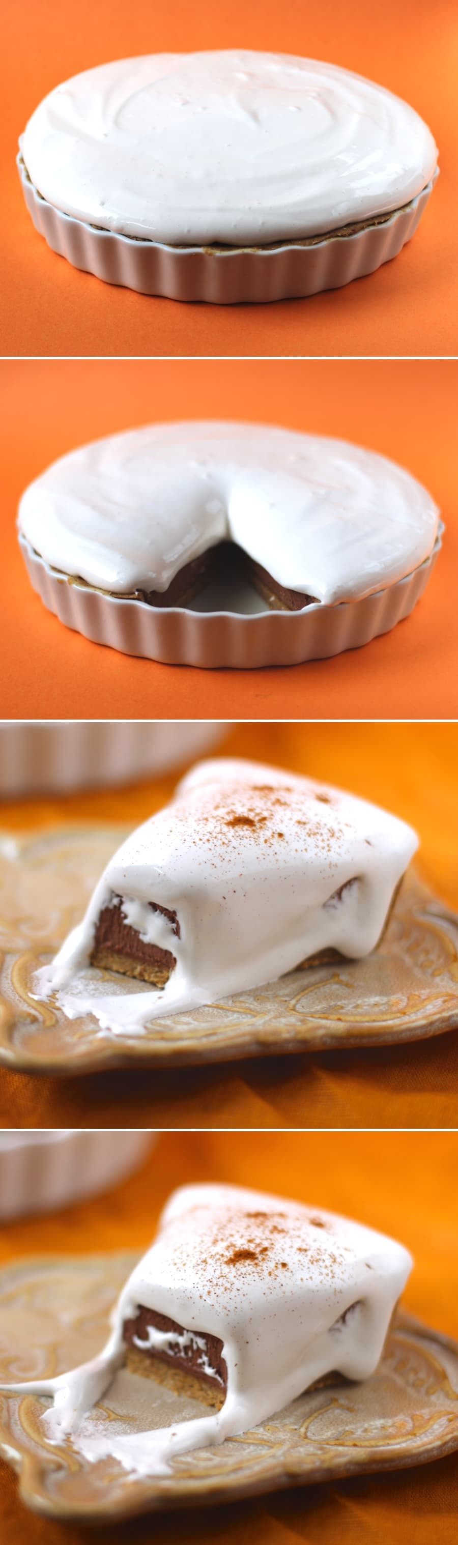 Healthy Smores Pie | Healthy Dessert Recipes at the Desserts With Benefits Blog