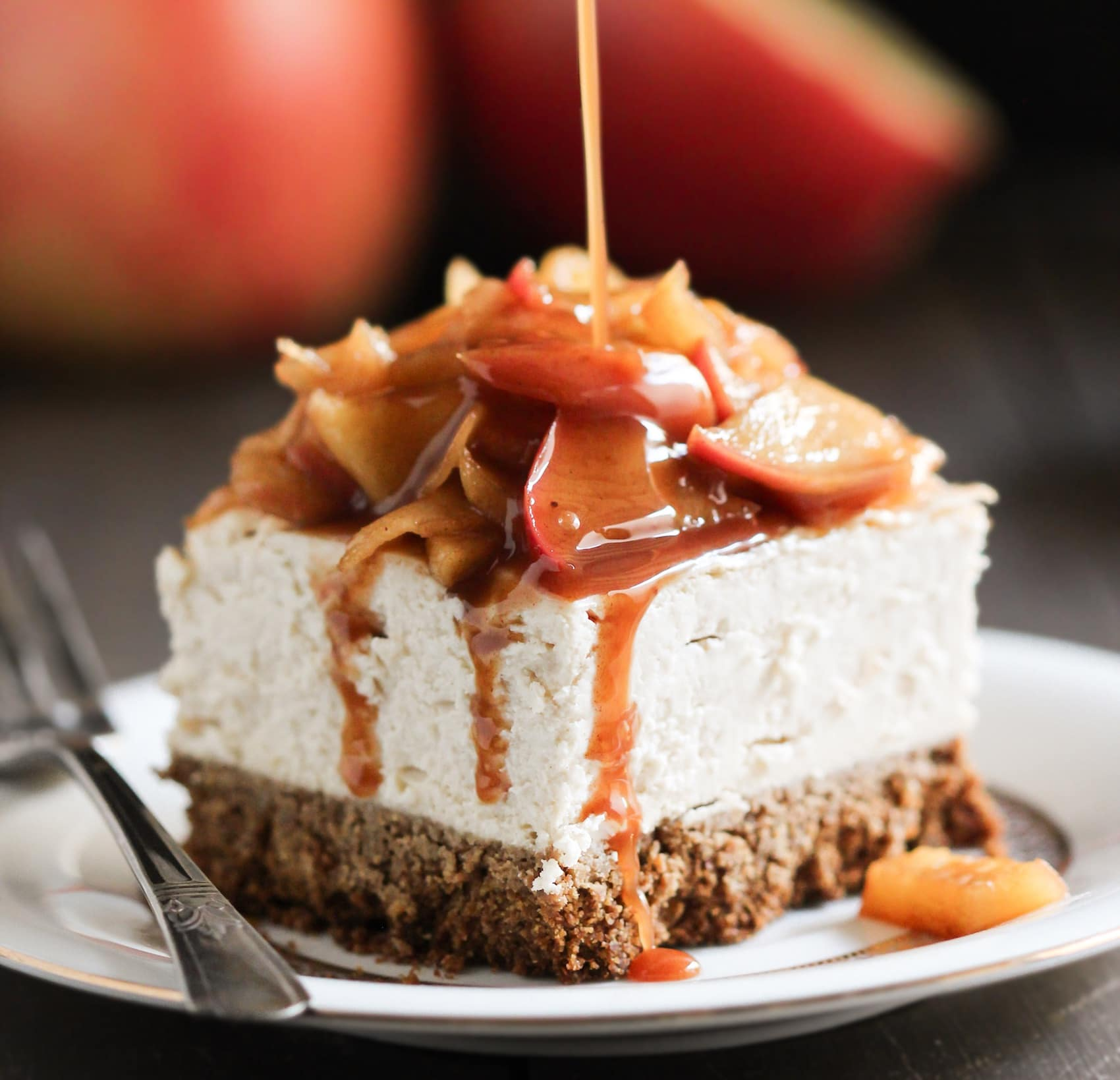 Apple Pie Porn healthy apple pie cheesecake bars