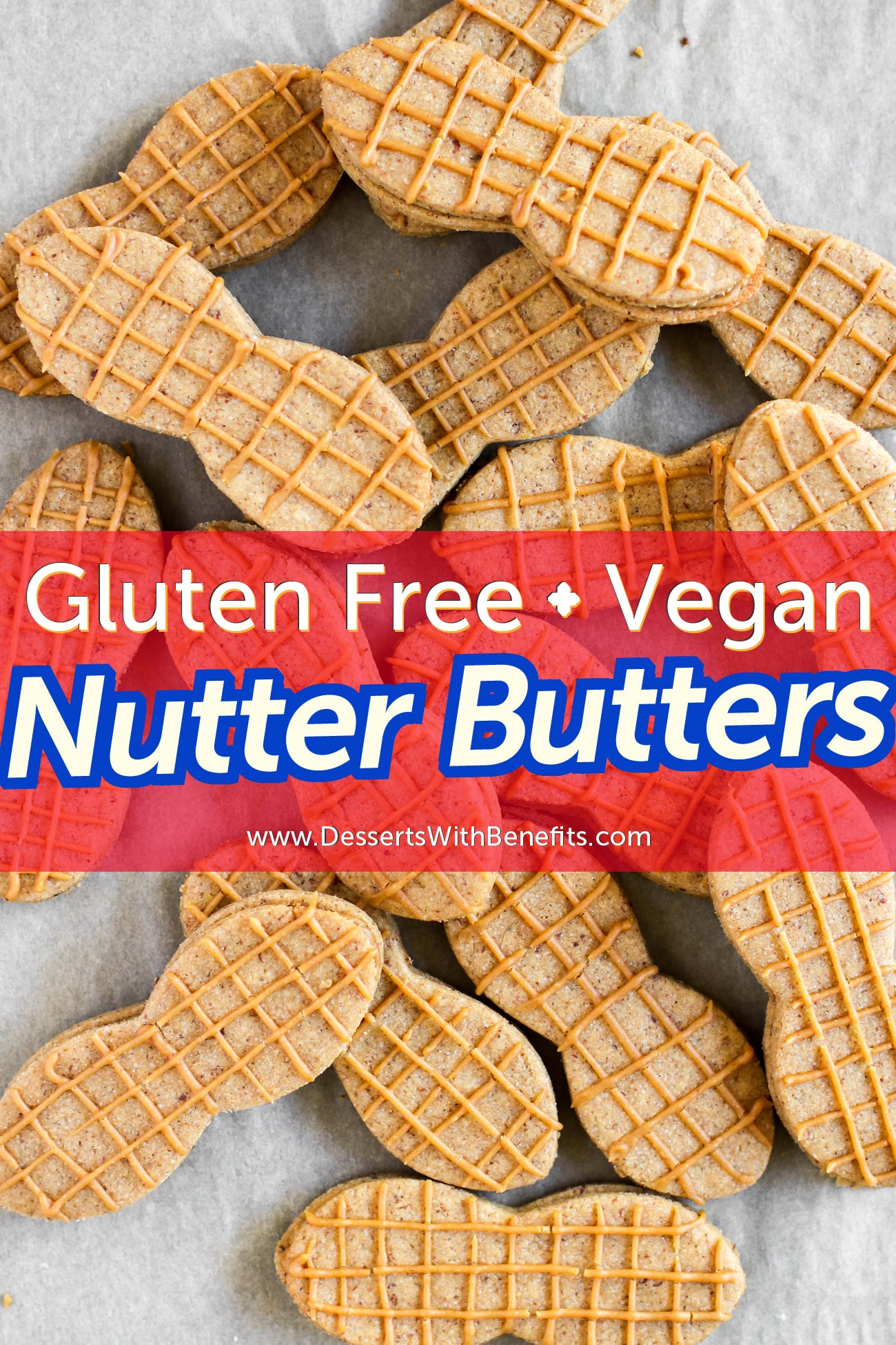 Just as delicious as the storebought kinds but made without the corn syrup and trans fats, these 80-calorie healthy Homemade Nutter Butters will blow your mind! This DIY recipe is sugar free, high protein, gluten free, dairy free, and vegan too -- made with natural peanut butter, oats, and all natural stevia extract.