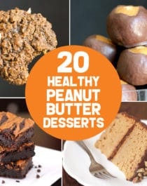 Let the peanut butter lover inside you go ham with these 20 healthy peanut butter desserts! From chewy peanut butter cookies to fluffy peanut butter mousse, from peanut butter cake to buckeye balls, and more. There are options for everyone, with sugar free, low carb, low fat, high protein, high fiber, gluten free, dairy free, vegan, and keto recipes! #glutenfreedessert #lowcarbdessert #ketodessert #highprotein #healthycake #glutenfreecake #sugarfreecake #veganbrownies #ketofudge #fatbombs