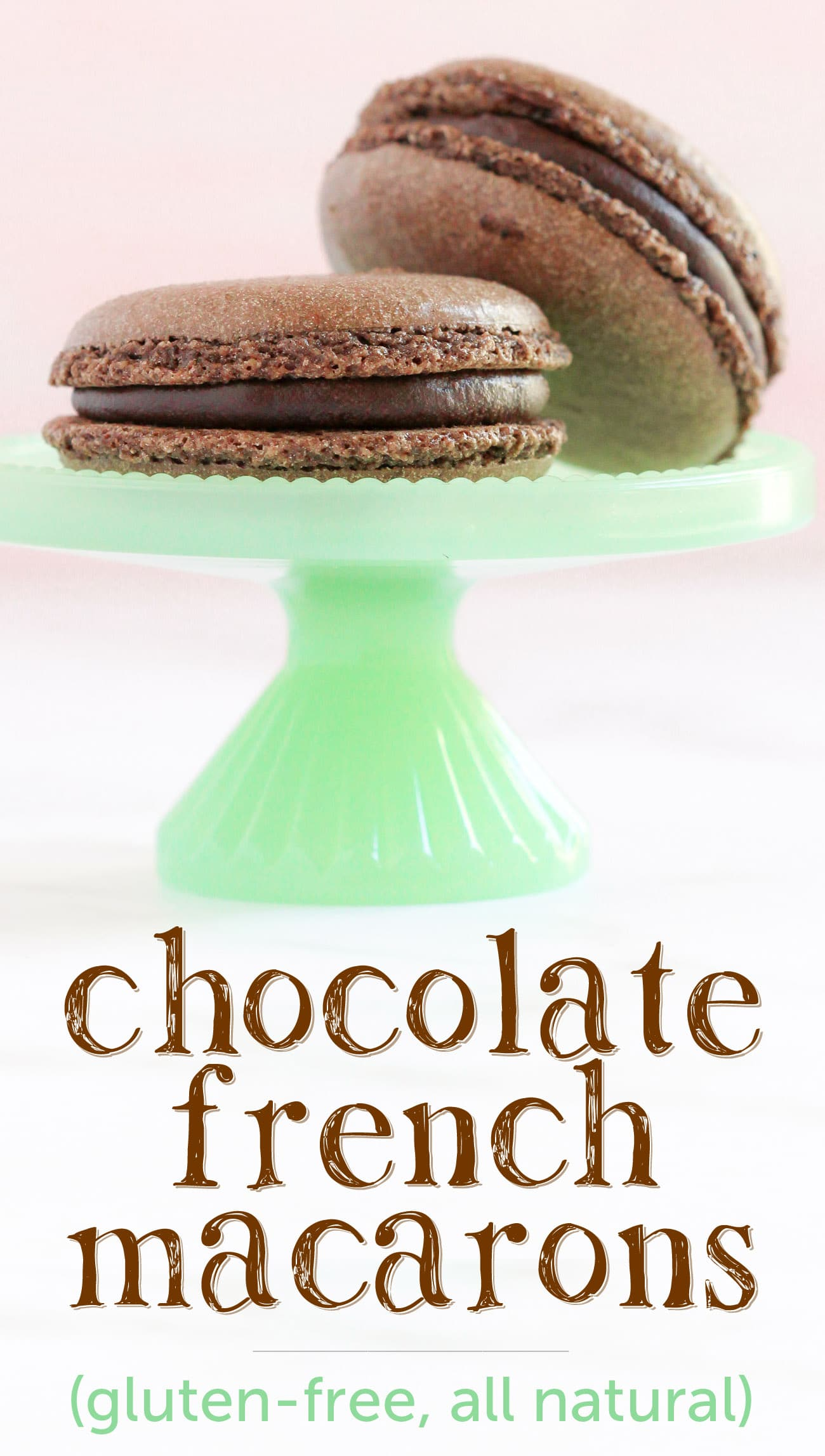 These Gluten Free Chocolate French Macarons are perfectly sweet and chewy, thanks to the almond meal and dark cocoa powder! Made without the bleached white sugar and artificial flavors, yet you'd never know! #chocolate #frenchmacarons #macarons #glutenfree #glutenfreemacarons #valentinesday