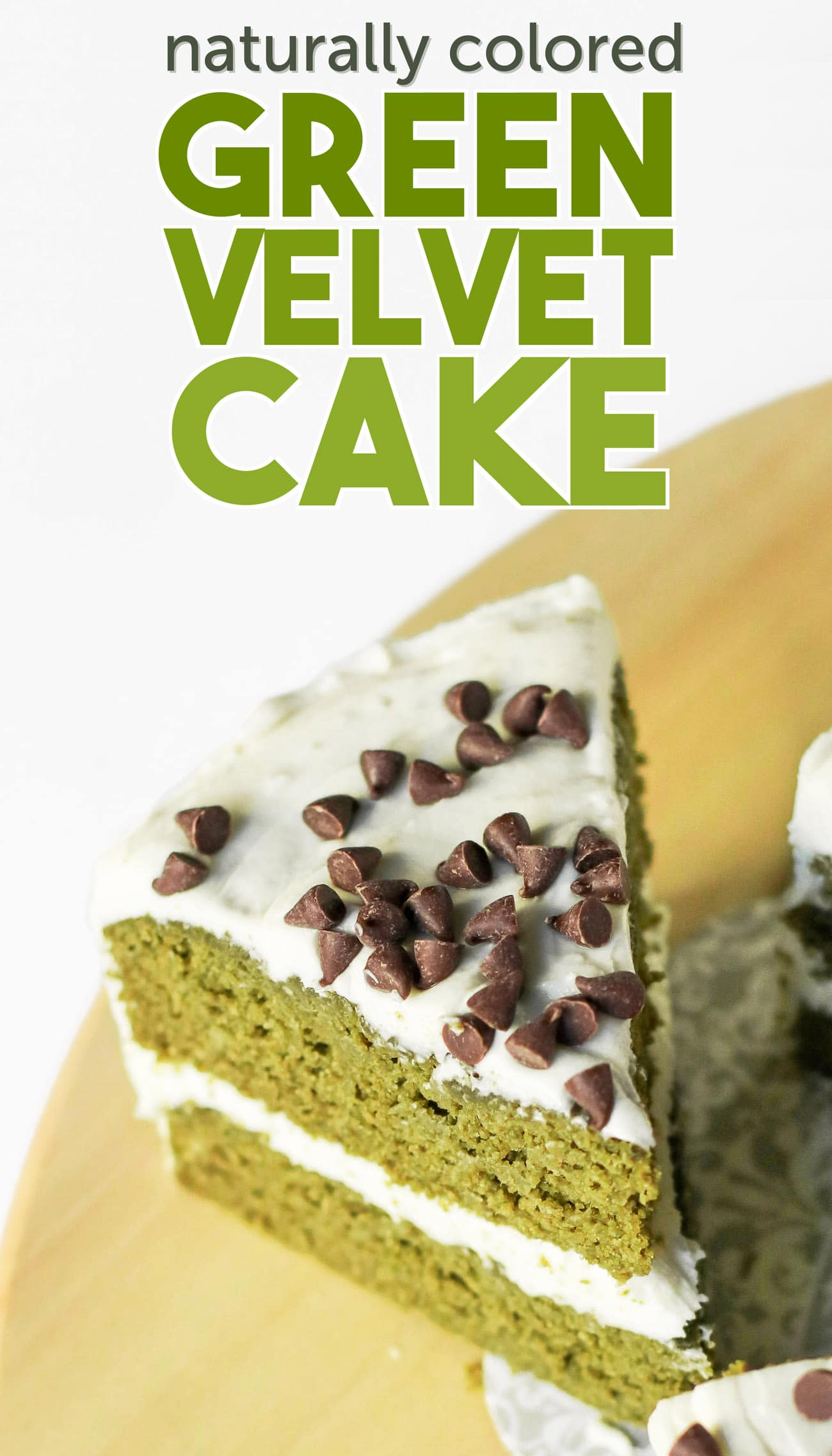 This Healthy Green Velvet Cake tastes exactly like Red Velvet Cake, only it's GREEN! It's super moist, flavorful, and delicious, you'd never know it's sugar free, low fat, high fiber, and gluten free too. It also happens to be the perfect green Saint Patrick's Day dessert!